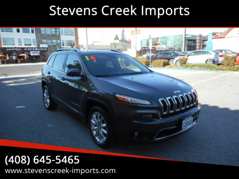 2016 Jeep Cherokee for sale at Stevens Creek Imports in San Jose CA
