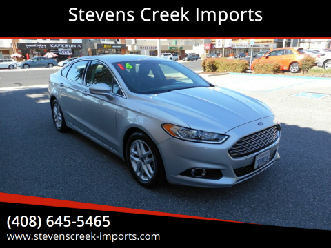 2016 Ford Fusion for sale at Stevens Creek Imports in San Jose CA