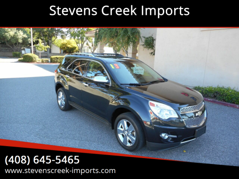2013 Chevrolet Equinox for sale at Stevens Creek Imports in San Jose CA