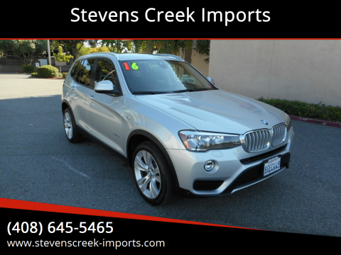 2016 BMW X3 for sale at Stevens Creek Imports in San Jose CA