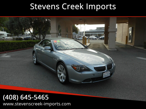 2005 BMW 6 Series for sale at Stevens Creek Imports in San Jose CA