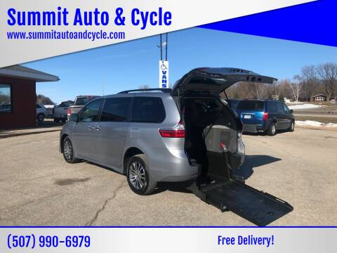 2018 Toyota Sienna XLE Premium 8-Passenger for sale at Summit Auto & Cycle in Zumbrota MN