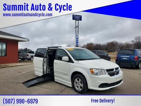 2012 Dodge Grand Caravan SXT for sale at Summit Auto & Cycle in Zumbrota MN