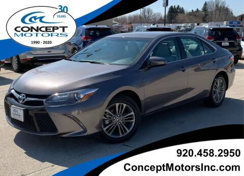 2017 Toyota Camry SE for sale at CONCEPT MOTORS INC in Sheboygan WI