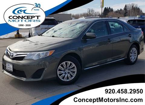 2014 Toyota Camry LE for sale at CONCEPT MOTORS INC in Sheboygan WI