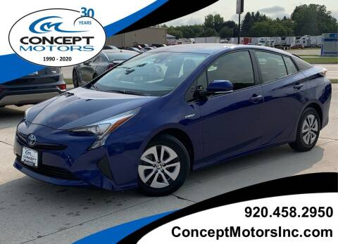 2017 Toyota Prius for sale at CONCEPT MOTORS INC in Sheboygan WI
