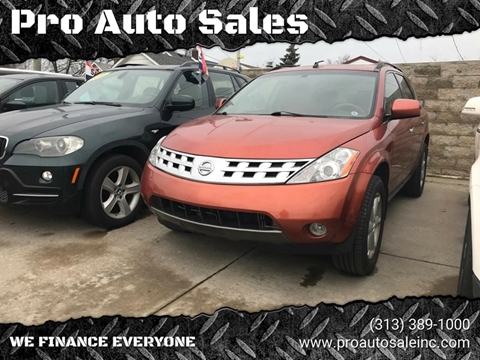 2003 Nissan Murano for sale in Lincoln Park, MI