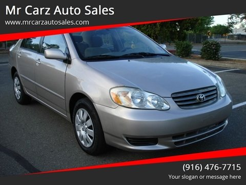 2003 Toyota Corolla for sale at Mr Carz Auto Sales in Sacramento CA