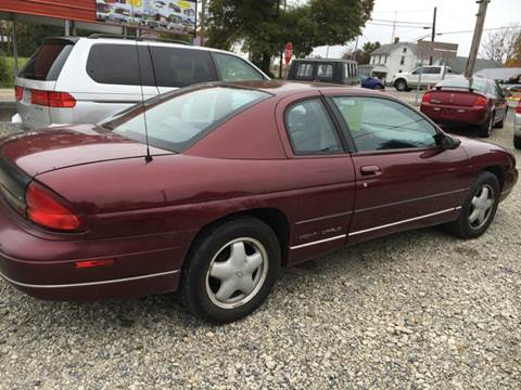1996 Chevrolet Monte Carlo for sale at Simon Automotive in East Palestine OH