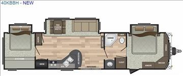 2018 Keystone Residence 40KBBH for sale at Vehicle Network, LLC - S & M Wheelestate Sales Inc in Princeton NC