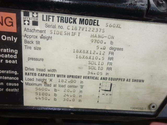 1996 Hyster S 60 XL for sale at Vehicle Network, LLC - Ironworks Trading Corporation in Norfolk VA