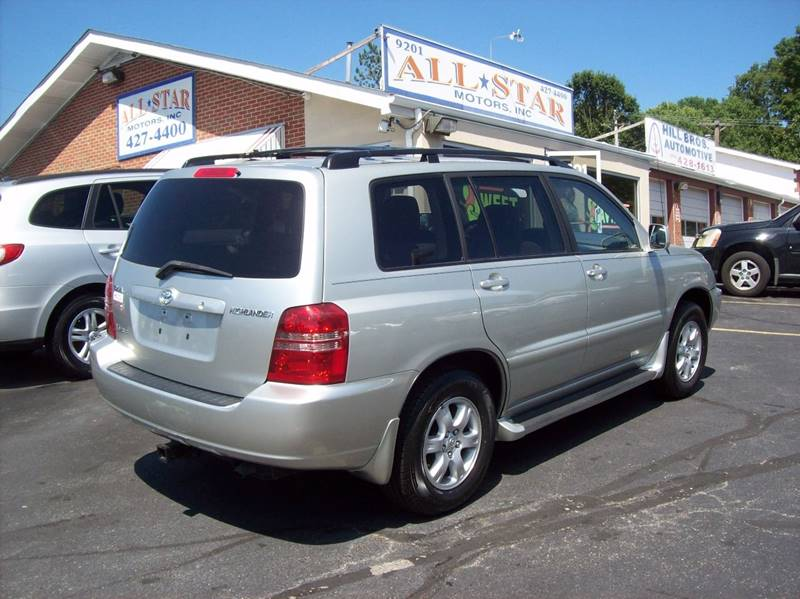 2003 Toyota Highlander for sale at Allstar Motors, Inc. in St. Louis MO