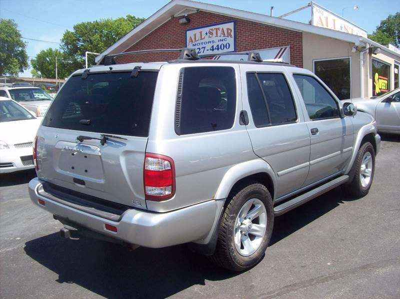 2003 Nissan Pathfinder for sale at Allstar Motors, Inc. in St. Louis MO