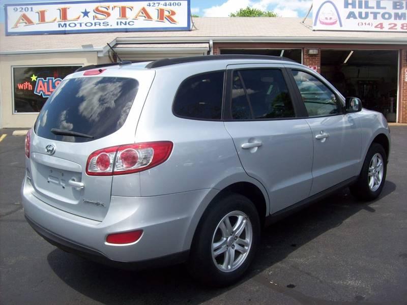 2010 Hyundai Santa Fe for sale at Allstar Motors, Inc. in St. Louis MO