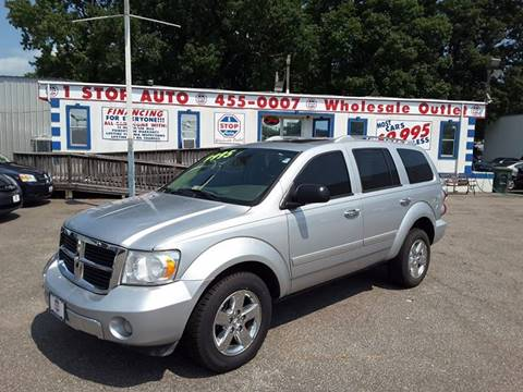 2008 Dodge Durango for sale at 1 Stop Auto Wholesale Outlet in Norfolk VA