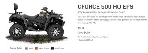 2017 CF Moto CFORCE 500 HO EPS