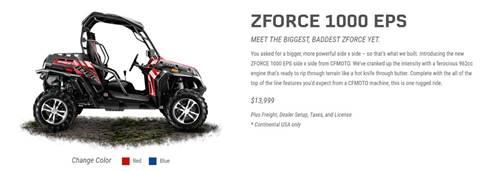 2017 CF Moto ZFORCE 1000 EPS