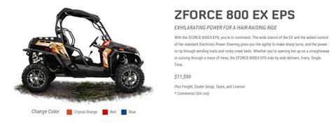 2017 CF Moto ZFORCE 800 EX EPS