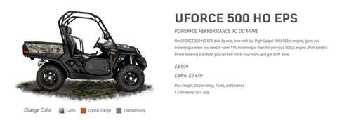 2017 CF Moto UFORCE 500 HO EPS