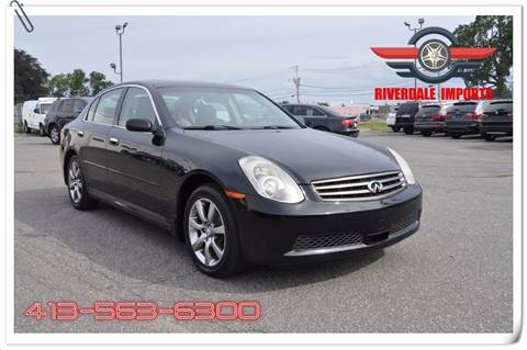 2005 Infiniti G35 for sale at Riverdale Imports in West Springfield MA