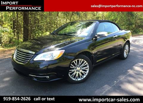 2012 Chrysler 200 Convertible for sale in Raleigh, NC