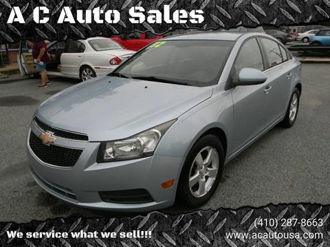 2012 Chevrolet Cruze for sale in Elkton, MD