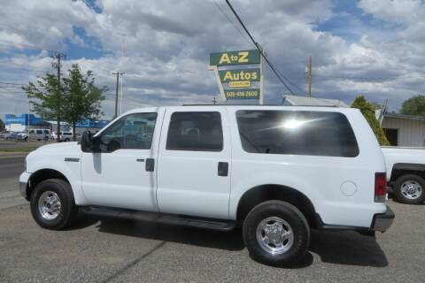 2005 Ford Excursion XLT for sale at A to Z Autos in Farmington NM