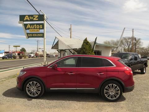 2016 Lincoln MKX for sale in Farmington, NM
