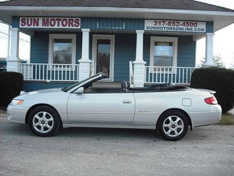 2001 Toyota Camry Solara SLE V6 for sale at SUN MOTORS in Indianapolis IN