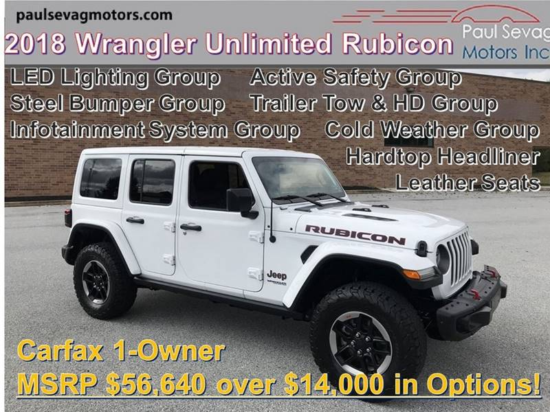 2018 Jeep Wrangler Unlimited 4x4 Rubicon 4dr Suv Midyear