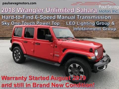 Jeep Wrangler For Sale In Pa >> 2018 Jeep Wrangler Unlimited For Sale In West Chester Pa