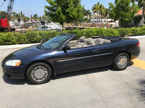 2001 Chrysler Sebring for sale at South Florida Luxury Auto in Pompano Beach FL