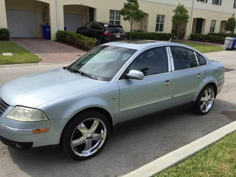 2002 Volkswagen Passat for sale at South Florida Luxury Auto in Pompano Beach FL