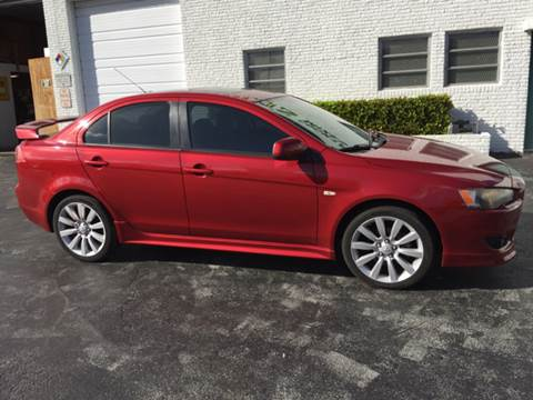 2008 Mitsubishi Lancer for sale at South Florida Luxury Auto in Pompano Beach FL