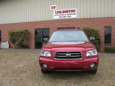 2004 Subaru Forester for sale at Unlimited Auto Sales & Detailing, LLC in Windsor Locks CT