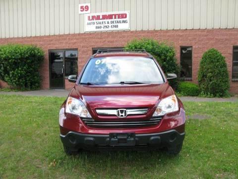 2007 Honda CR-V for sale at Unlimited Auto Sales & Detailing, LLC in Windsor Locks CT