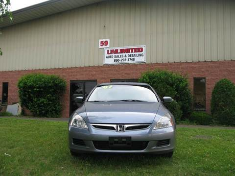 2007 Honda Accord for sale at Unlimited Auto Sales & Detailing, LLC in Windsor Locks CT