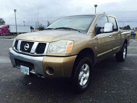 2004 Nissan Titan for sale at Xtreme Truck Sales in Woodburn OR