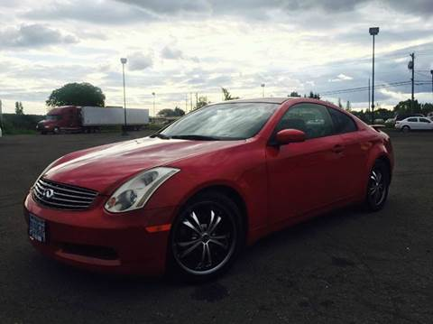 2003 Infiniti G35 for sale at Xtreme Truck Sales in Woodburn OR