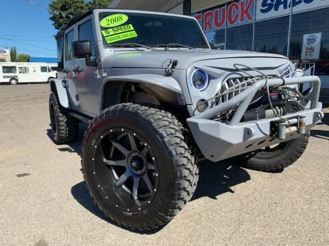 2008 Jeep Wrangler Unlimited for sale at Xtreme Truck Sales in Woodburn OR