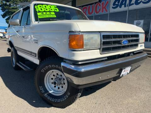 1990 Ford Bronco for sale at Xtreme Truck Sales in Woodburn OR