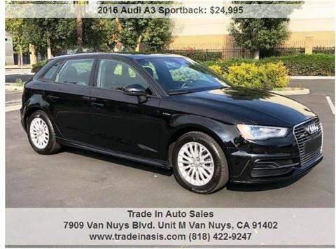 Used Audi A Sportback Etron For Sale In California Carsforsalecom - Used audi a3