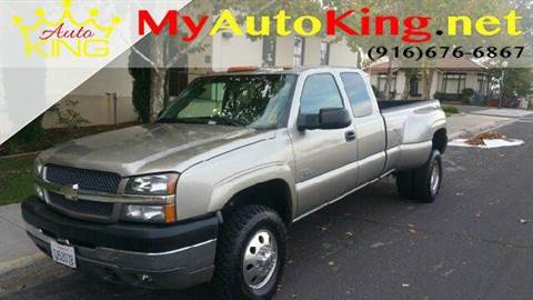 2003 Chevrolet Silverado 3500 for sale at Auto King in Roseville CA