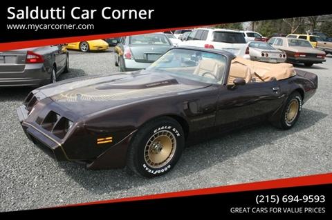 1981 Pontiac Firebird for sale in Gilbertsville, PA