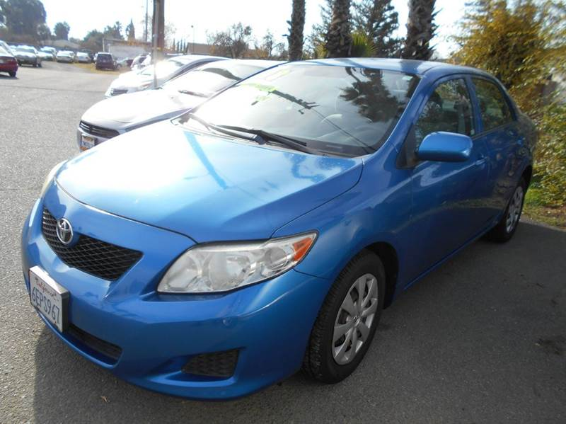 2009 TOYOTA COROLLA blue amfm radio wcd player cruise control driver and passenger front airb