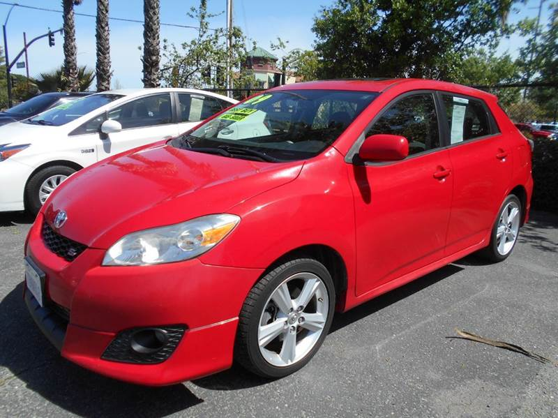 2009 TOYOTA MATRIX S 4DR WAGON 5A red abs - 4-wheel active head restraints - dual front air fil