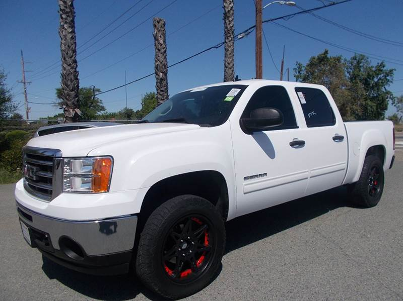 2013 GMC SIERRA 1500 SLE 4X4 4DR CREW CAB 58 FT SB white 4wd selector - electronic hi-lo 4wd t