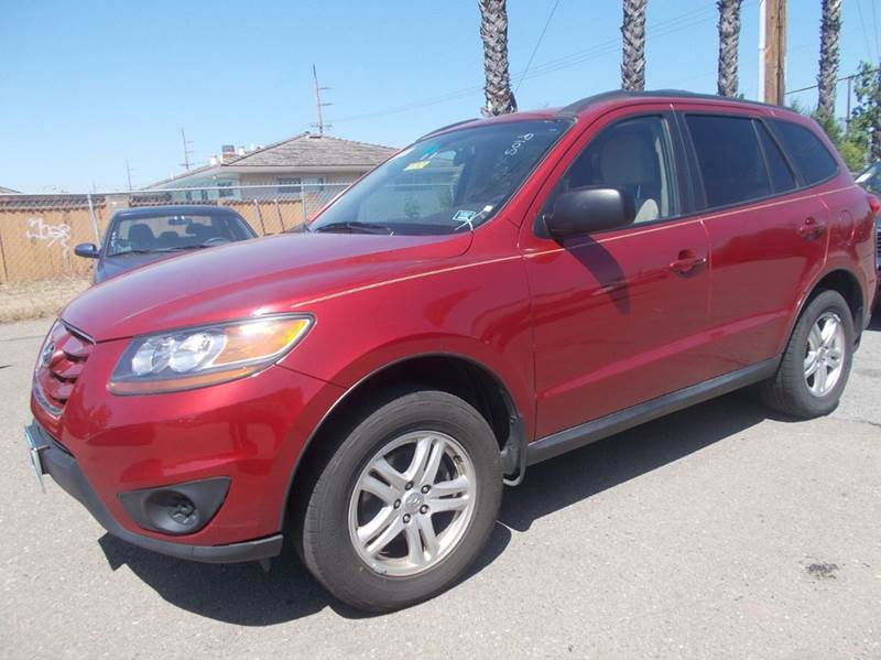 2010 HYUNDAI SANTA FE GLS 4DR SUV red abs - 4-wheel active head restraints - dual front airbag