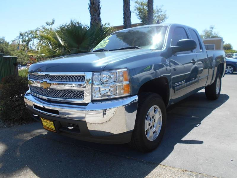 2012 CHEVROLET SILVERADO 1500 LT 4X4 4DR EXTENDED CAB 65 FT blue pickup bed light pickup bed t