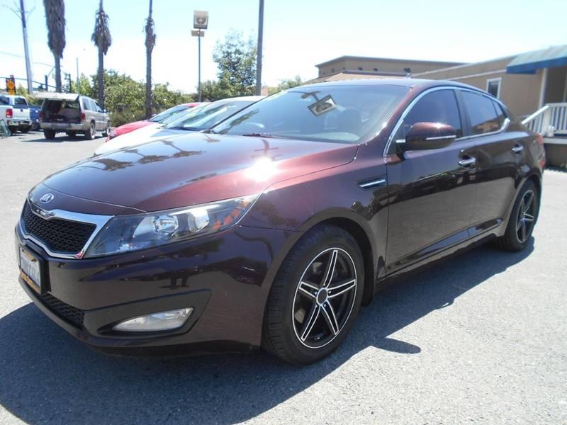 2013 KIA OPTIMA EX 4DR SEDAN burgundy exhaust - dual tip body side moldings - body-color door h
